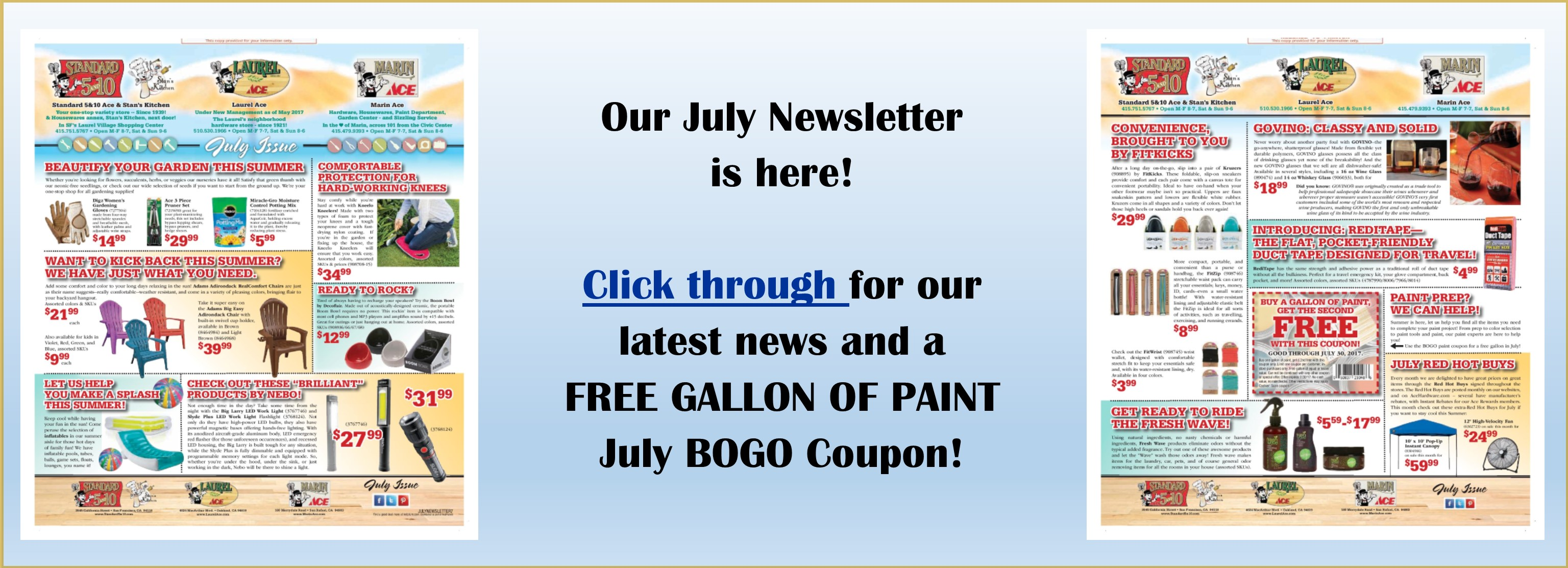 Read our July Newsletter Online!