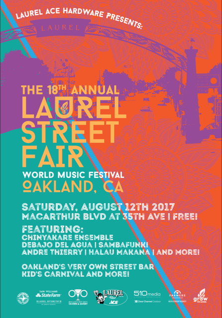 Laurel Street Fair 2017 (bus shelter ad)