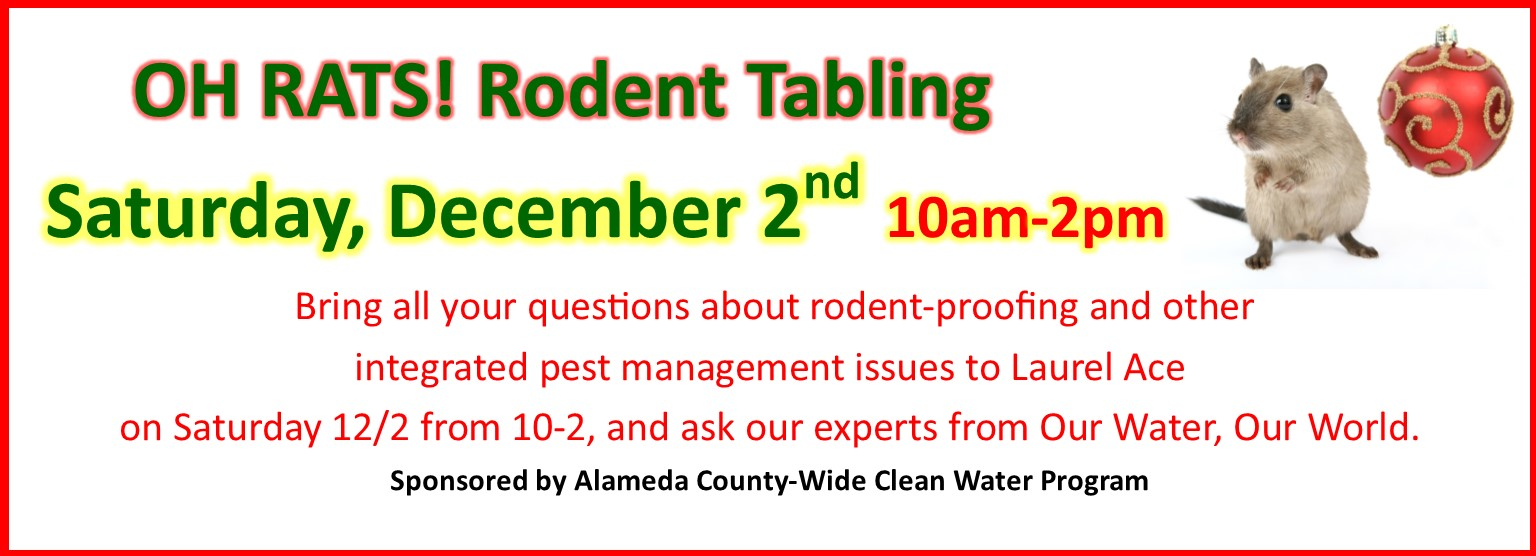 Oh Rats! Rodent IPM Tabling December 2