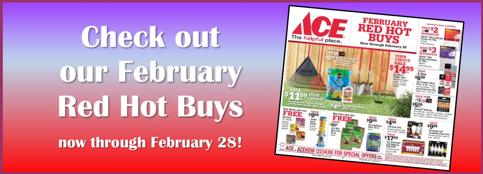 February 2018 Red Hot Buys