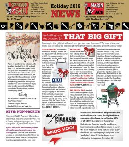 Holiday 2016 Newsletter Page 1