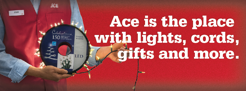 Laurel Ace has holiday lights