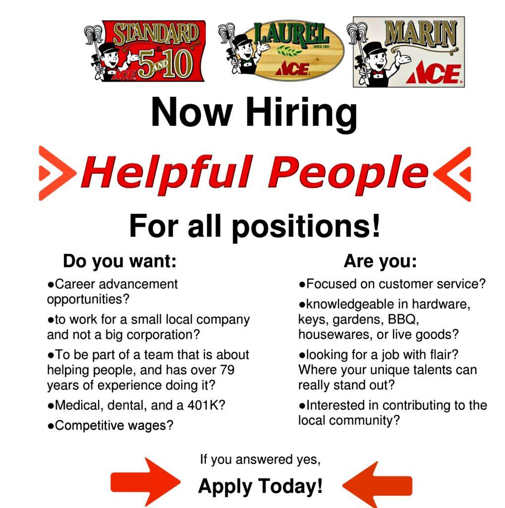 hiring employment information laurel ace oakland
