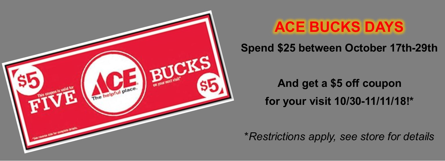 Oct Ace Bucks