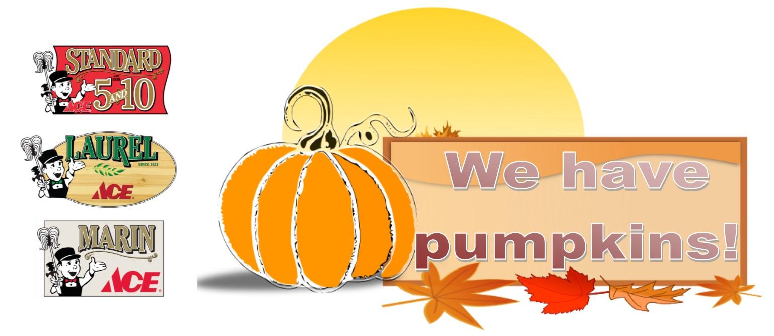 We have pumpkins