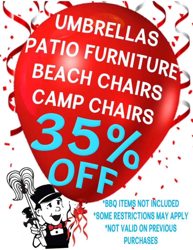 35% off summer furniture