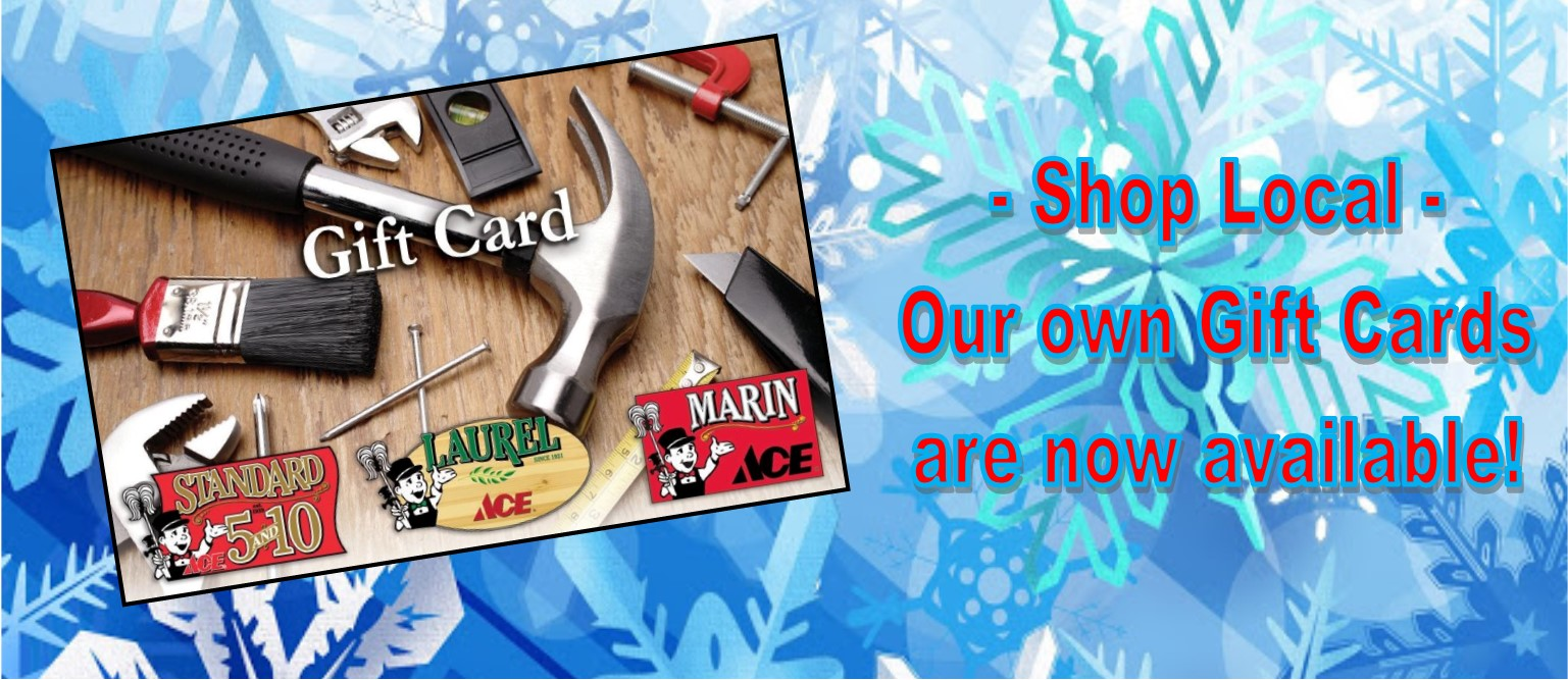 Our Giftcards make great holiday gifts!