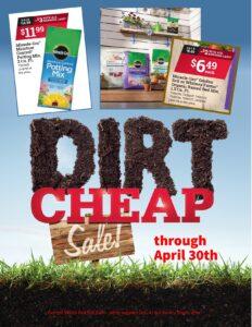 April Dirt Cheap RHB