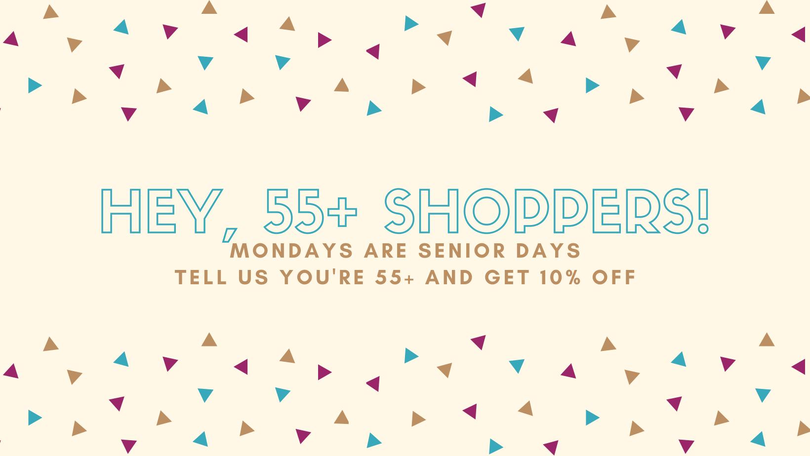 Senior 55+ discount