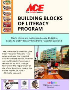 Thank you for helping us donate books to Children's Hospital Oakland!